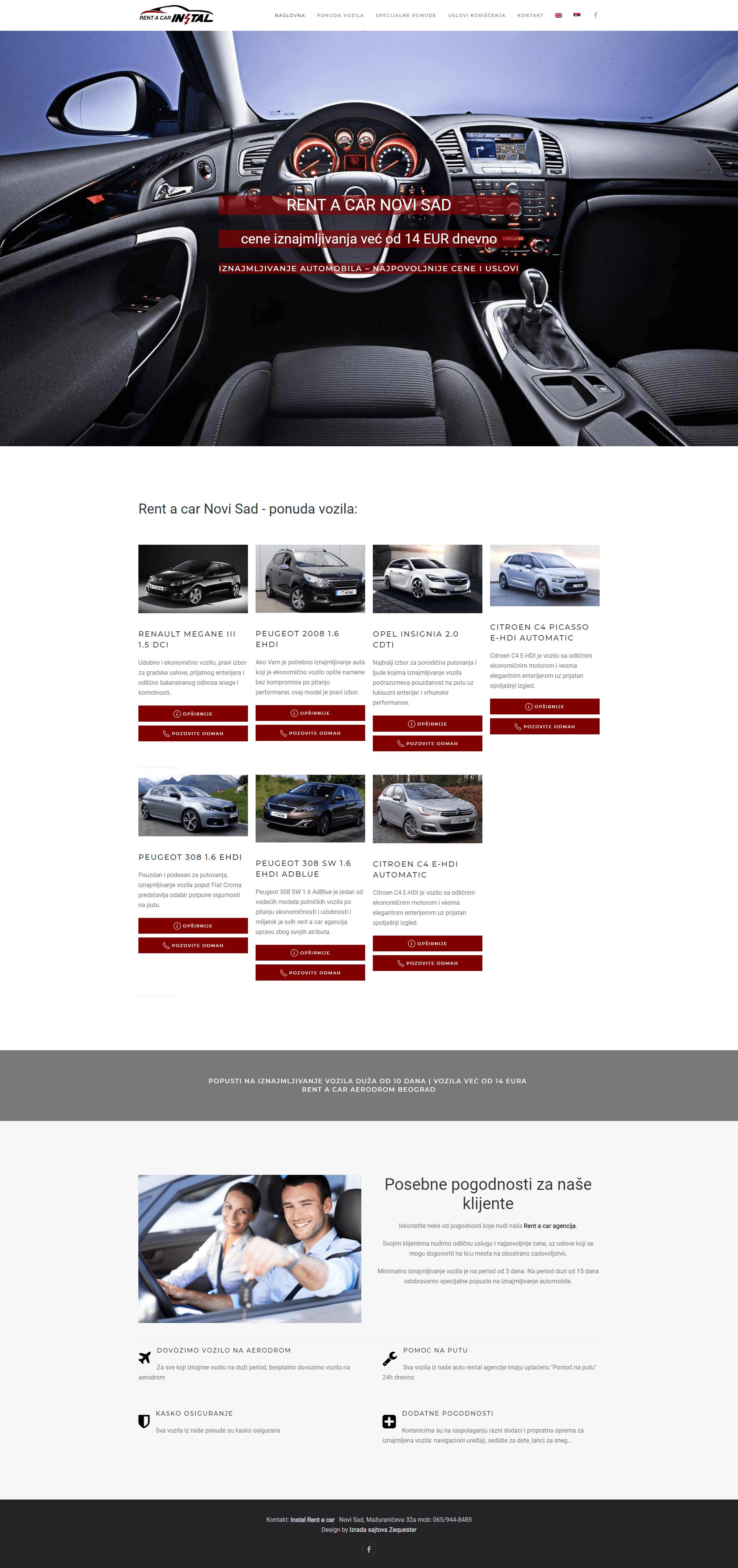 rent a car instal